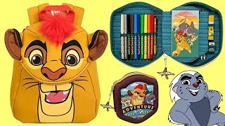 Disney Jr. LION GUARD Backpack First Day of School Supplies, Tumbler Toy Surprises / TUYC