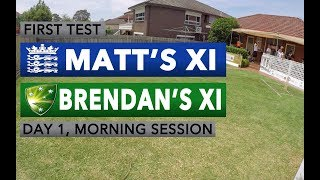 MXI v BXI FIRST TEST, DAY ONE - MORNING SESSION