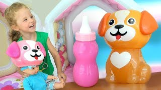 Milana plays and Learn with Funny Doll and mixed colors for children