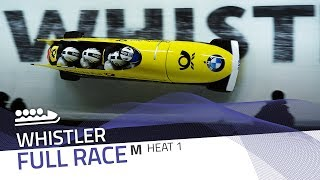 Whistler | BMW IBSF World Cup 2017/2018 - 4-Man Bobsleigh Heat 1 | IBSF Official