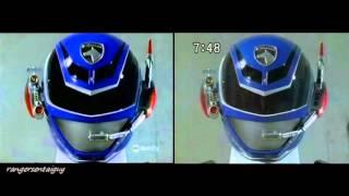 Power Rangers SPD Swat Mode First Apearance Split Screen (PR and Sentai version)