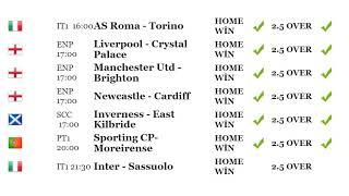 Football predict results 19.01.2019