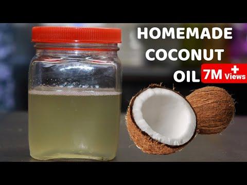 ताज़ा नारियल से घर मे नारियल का तेल बनाने का आसान तरीका How to make Coconut Oil at Home Homemade Oil