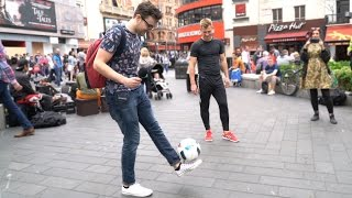 PUBLIC FREESTYLE FOOTBALL CHALLENGE!!!