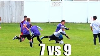 SOCCER TEAM WINS GAME OUTNUMBERED!