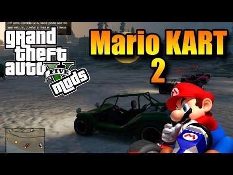 GTA V Online com MODS   Mario Kart 2 #3PIC   Mitei nessa!