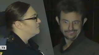 COPS VISIT MEME POSTER