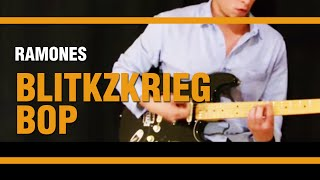 Blitzkrieg Bop - The Ramones - Como tocar en Guitarra TUTORIAL / VIDEO AULA