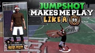 THIS JUMPSHOT MAKES MY 75 OVERALL PLAY LIKE A 99!!!!! NBA 2K18