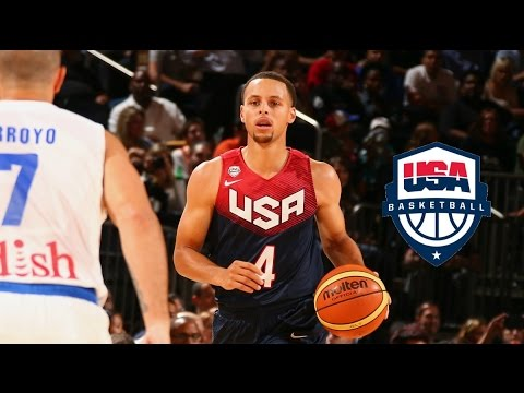 watch Stephen Curry Team USA Full Highlights vs Puerto Rico 2014.8.22 - 20 Pts, 4 Treys, TOO EASY!!!