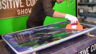 Acrylic painting technique. Restoration of the table. Реставрация стола.