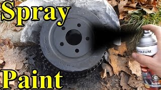 How to paint brake drums ANY color DIY