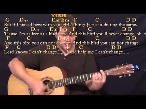 Freebird  (Lynyrd Skynyrd) Strum Guitar Cover Lesson with ChordsLyrics