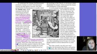 Renaissance Changed Man's View Video