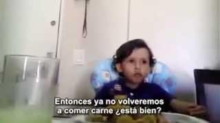 LUIZ - Un Niño de Brasil explica a su Mamá porqué no quiere comer Animales