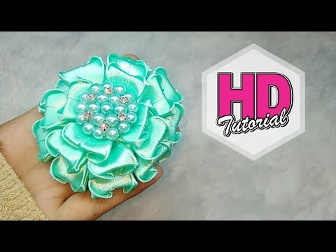 Xxx Mp4 DIY Cara Membuat Bros Tutorial Simple Kanzashi Flower Satin Ribbon Flower HD Tutorial 3gp Sex