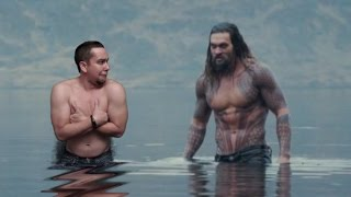 New Justice League BTS Images of Aquaman in Jason Momoa Short Documentary
