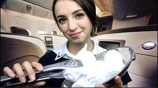 [ASMR] International First Class Flight Attendant Roleplay (Soft Spoken)