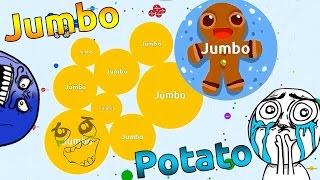 JUMBO vs JUMBO ?!  Solo Agario Gameplay  | Agar.io  |