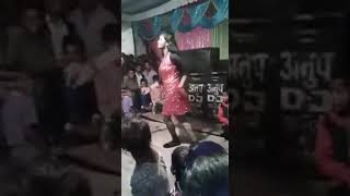 Funny | Indian Bhojpuri boy Dance on a stage with girl | Funny Marriage Dance 😂😂😂