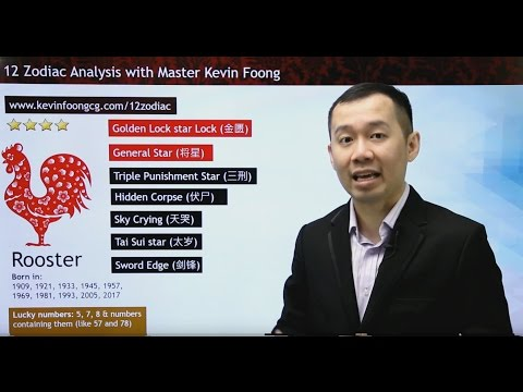 2017 Rooster Prediction 12 Chinese Zodiac by Master Kevin Foong