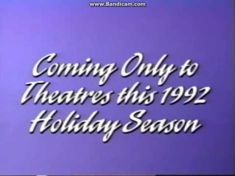 Coming Only to Theatres this 1992 Holiday Season No Music