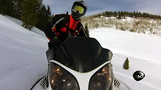 CAUGHT ON CAMERA: Snowmobiler Triggers Avalanche