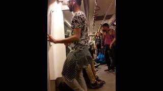 Boy belly dance in vidhansaba metro delhi
