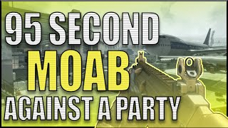 *SOLO* 95 Sec Moab against Party (Broab w/ Txmes) - CoD: Mw3