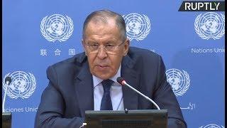 Russian FM Sergey Lavrov holds press conference on UNGA sidelines (Streamed live)