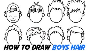 87 How To Draw Boy Hair Youtube How To Draw Realistic Looking Hair