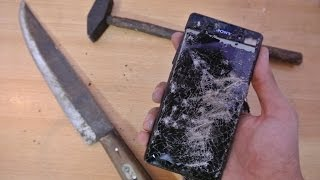 Sony Xperia M5 - Hammer & Knife Scratch Test *ULTIMATE DESTRUCTION*