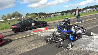 230HP Super Kart vs. 1300HP Porsche 9ff vs. 1088HP AUDI S4