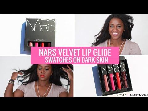 NARS Velvet Lip Glide Swatches on Dark Skin