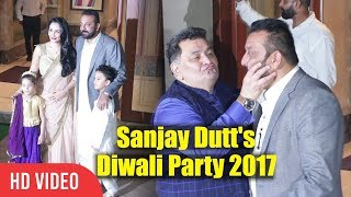 Rishi Kapoor And Neetu Singh At Sanjay Dutt Diwali Party 2017 | Sanju Baba's Diwali Party 2017