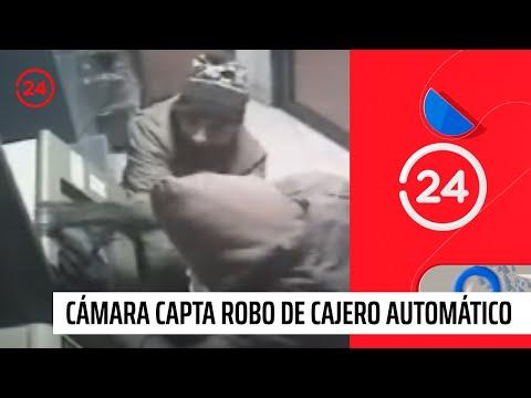 Cámara capta robo de cajero automático