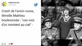 Crash de l'avion russe : Mireille Mathieu «bouleversée»