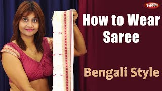 How to Wear Bengali Saree || Indian Draping Styles || Best Costume in the World || Hindi Video