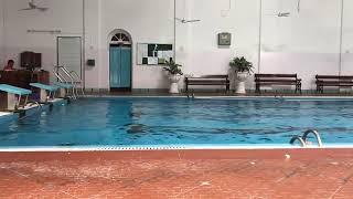 Pro kabaddi 2017 Bengal warriors team enjoying at swimming pool