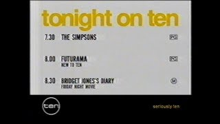 Channel Ten Perth - Summer Lineup + PRG (January 2006)