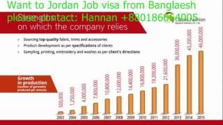 Work visa for jordan, want to Job visa from bangladesh, contact Hannan +8801866684005