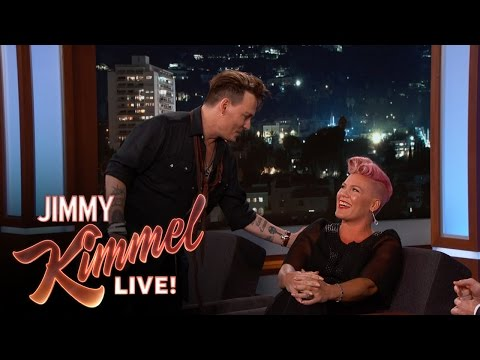 Johnny Depp Surprises P!nk Mp3