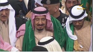 خادم الحرمين الشريفين الملك سلمان بن عبدالعزيز يشرف حفل العرضة السعودية في الجنادرية 31