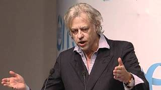 OYW 2011 Sir Bob Geldof speaking at the Opening Cermony of One Young World