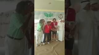 تتويج لاعبين منتخب الامارات للجولف