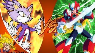 BLAZE THE CAT vs ZERO (Megaman)! Cartoon Fight Club Episode 61 REACTION!!!