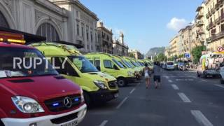 Spain: Emergency services help those injured in Barcelona train crash