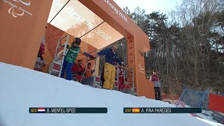 Bibian MENTEL-SPEE VS. Astrid FINA PAREDES |Snowboard cross|PyeongChang2018 Paralympic Winter Games
