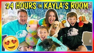 24 HOURS IN KAYLA'S BEDROOM! | We Are The Davises