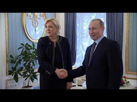Vladímir Putin recibe a la candidata presidencial Marine Le Pen a un mes de las elecciones francesas